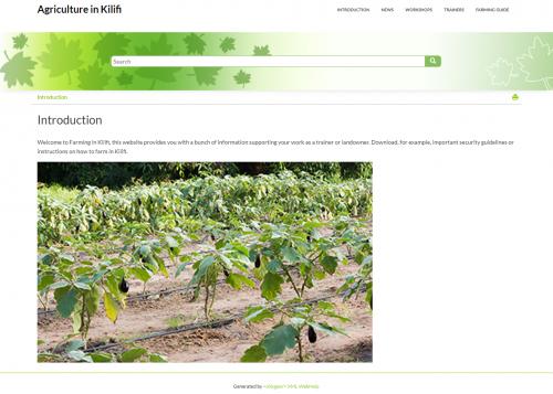 Agriculture in Kilifi Kenia